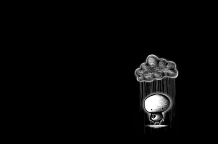 Dark Sad Rain Cloud - cloud, dark, scene, 3d, rain cloud, emo, alone, sad, lonely, new, rain, pain