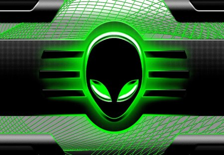 green alien - faces, aliens, green, windows7, space