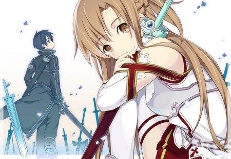 Sword Art Online - sword art online, anime wallpaper, asuna, kirito