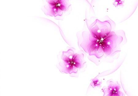 Charming fuchsia♥ - flowers, white, lavender, pure, purple, texture, charming, fuchsia, sparkle