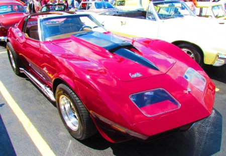 1973 Chevrolet Corvette Stingray - red, corvette, vette, chevy, 1973, custom, 73, stingray, gm, cool, chevrolet