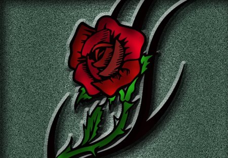 red rose - red, rose, flower, photoshop, sewenka