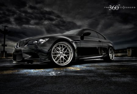BMW 3 Series - car, black