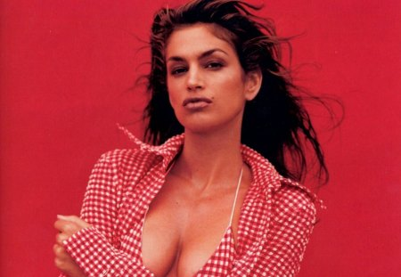 Cindy Crawford - woman... - sensual, pretty, splendid, beautiful, woman, cindy crawford, supermodel, famous, beauty, face, long hair, star, big hair, celebrity, tempting, sexy, lips, brunette, body, makeup, passion, eyes, fashion, style