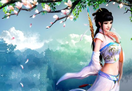 SUPREME BEAUTY - princess, girl, dynasty, art, warrior