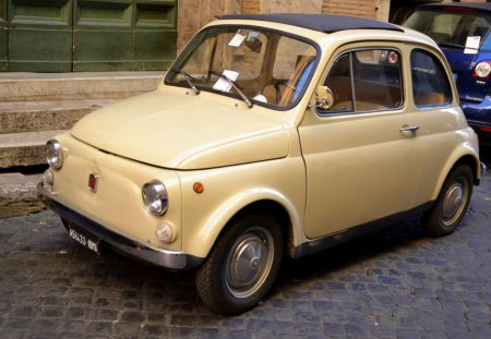 LITTLE CUTIE - cars, automobiles, transport, vehicles, fiat, motoring