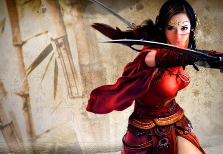BEAUTY with SWORD - beauty, masked veil, art, sword, action