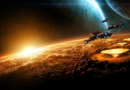 Exploration - planets, spacecraft, other, fantasy, space
