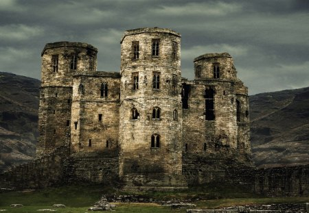 Castle Ruins - castles, ruins, decay, travel