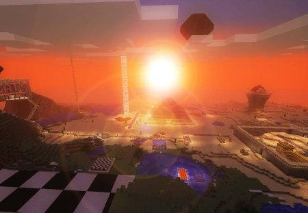 Minecraft Sunset Other Video Games Background Wallpapers On