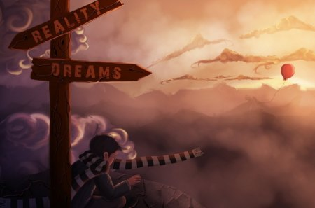 Dream or Reality - reality, dream, cg, imagination