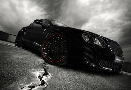 Bentley Ultrasports 702 - bentley, road, car, dark