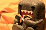 Domo eating smores