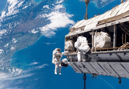 Space Walk - iss, walk, astronaut, space