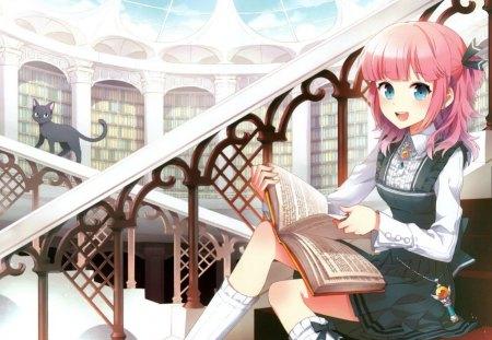 Anime Girl Reading A Book Ah My Goddess Anime