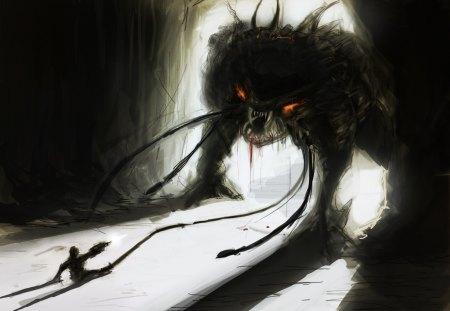 monster - drawing, horror, monster, concept