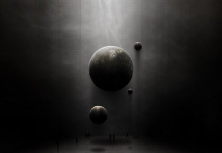 dark planets 3d and cg abstract background wallpapers on desktop