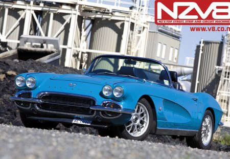 1962 Corvette - classic, corvette, 1962, auto, sportscar, musclecar, car, chevrolet
