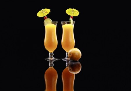 COOL ORANGE SUMMER DRINK - drink, fast, fruits, ymmy