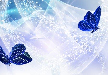 Whisper of Blue - Butterflies & Animals Background ...