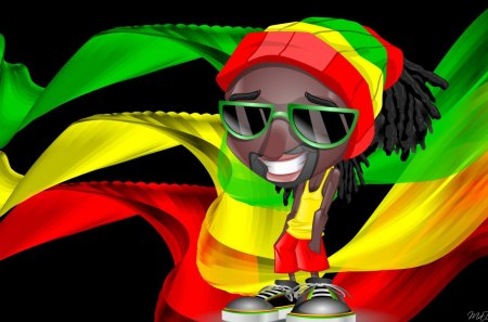 Cute Rasta Boy 3d And Cg Abstract Background Wallpapers On