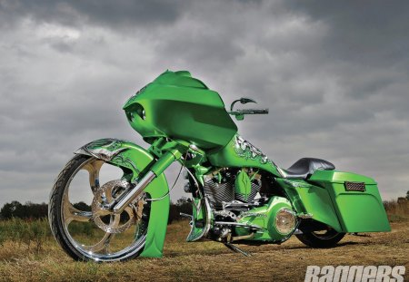 The Green Goblin - green, hd, bike, chrome