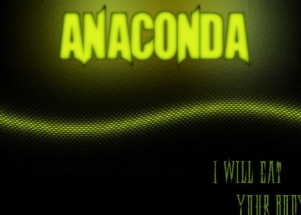Anaconda - green, diamond, black, anaconda