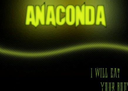 Anaconda - green, diamond, black, anaconda