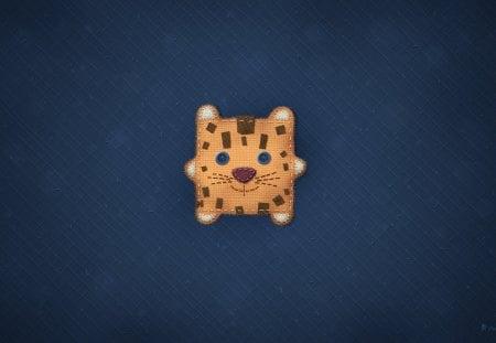 Mountain Lion - cat, blue, lion, fun, mac, os, cute, animal, stitching
