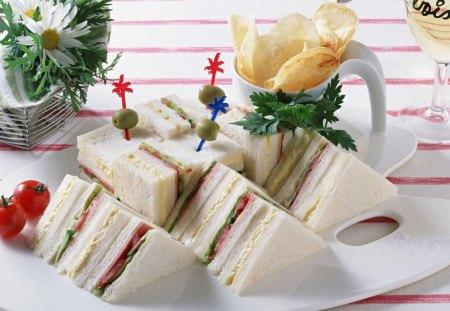 Club Sandwich - sandwich, service, food, breakfast