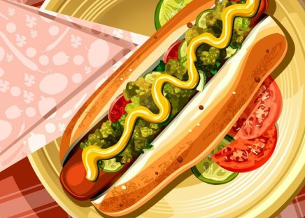 Hot Dog: An American Classic - hot dog, american, food, wiener