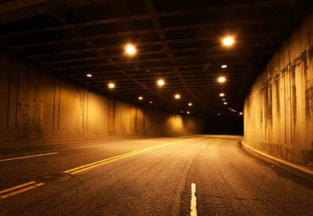 Tunnel Vision - tunnel art, nighttime, night, vision, art, tunnel