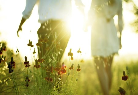 ♥Love♥ - poppy, roman, sun, romantic, grass, sunlight, poppies, man, woman, photography, girl, love, heart, nature, couple, field