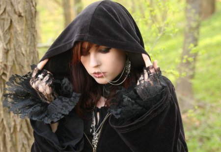 Riding Hood In Black. - wonderful, a, picture, of