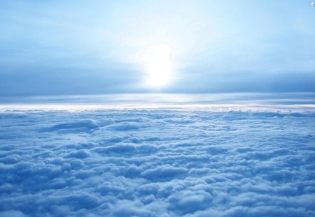 Above The Clouds - clouds, sky, earth, above the clouds, sun
