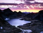 Sunrise over Upper Ice Lake Basin