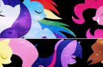 The Mane Six Colored by the Stars