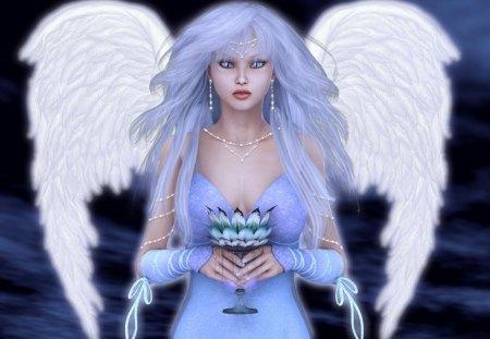 Guardian_Angel - wings, white, blue, 3d