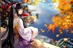 Geisha at Autumn Lake