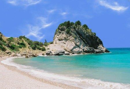 Greek Beach - swimming, widescreen, europe, wallpaper, sun, samos, sea, beach, sunny, greece