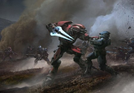 The fall of Reach - halo reach, future, elites, xbox, spartans
