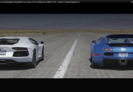 Bugatti Veyron Vs Lamborghini Aventador Bugatti Cars Background