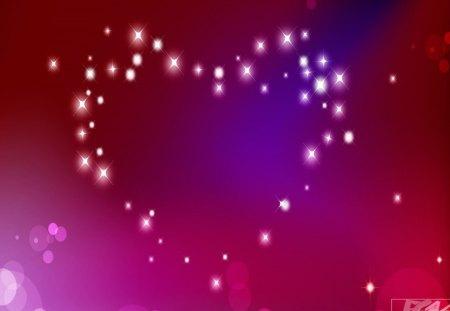 Heart of stars - pink, stars, purple, heart