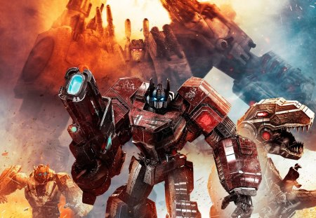 Transformers Fall of Cybertron - decepticons, ps3, autobots, transformers, game, xbox 360, fall of cybertron, activision