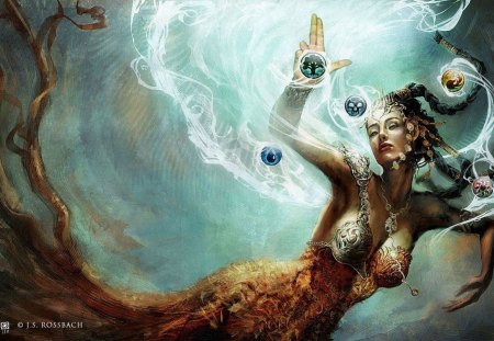 queen mermaid - creature, water, gothic, mermaid, dark, hot