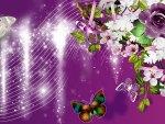 Purple Roses Falling Stars