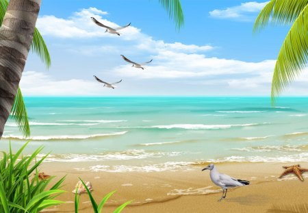 By The Beautiful Sea Beaches Nature Background Wallpapers On Desktop Nexus Image 1131259