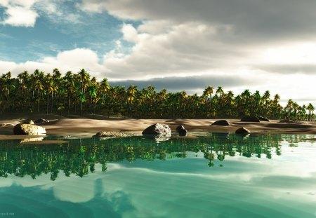 Tropical Island Fantasy - fantasy, islands, tropical, paradise