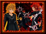 Kingdom Hearts Axel and Roxas