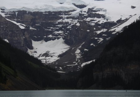 mountains full of snow in July - snow, photography, white, Lakes, mountains, grey